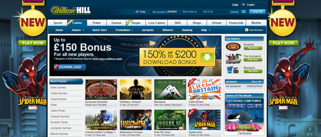 william hill promo code live