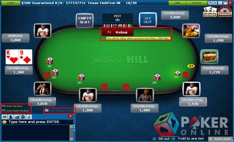 william hill promo code poker